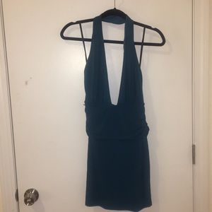 Nasty Gal Dresses - Aquamarine halter minidress
